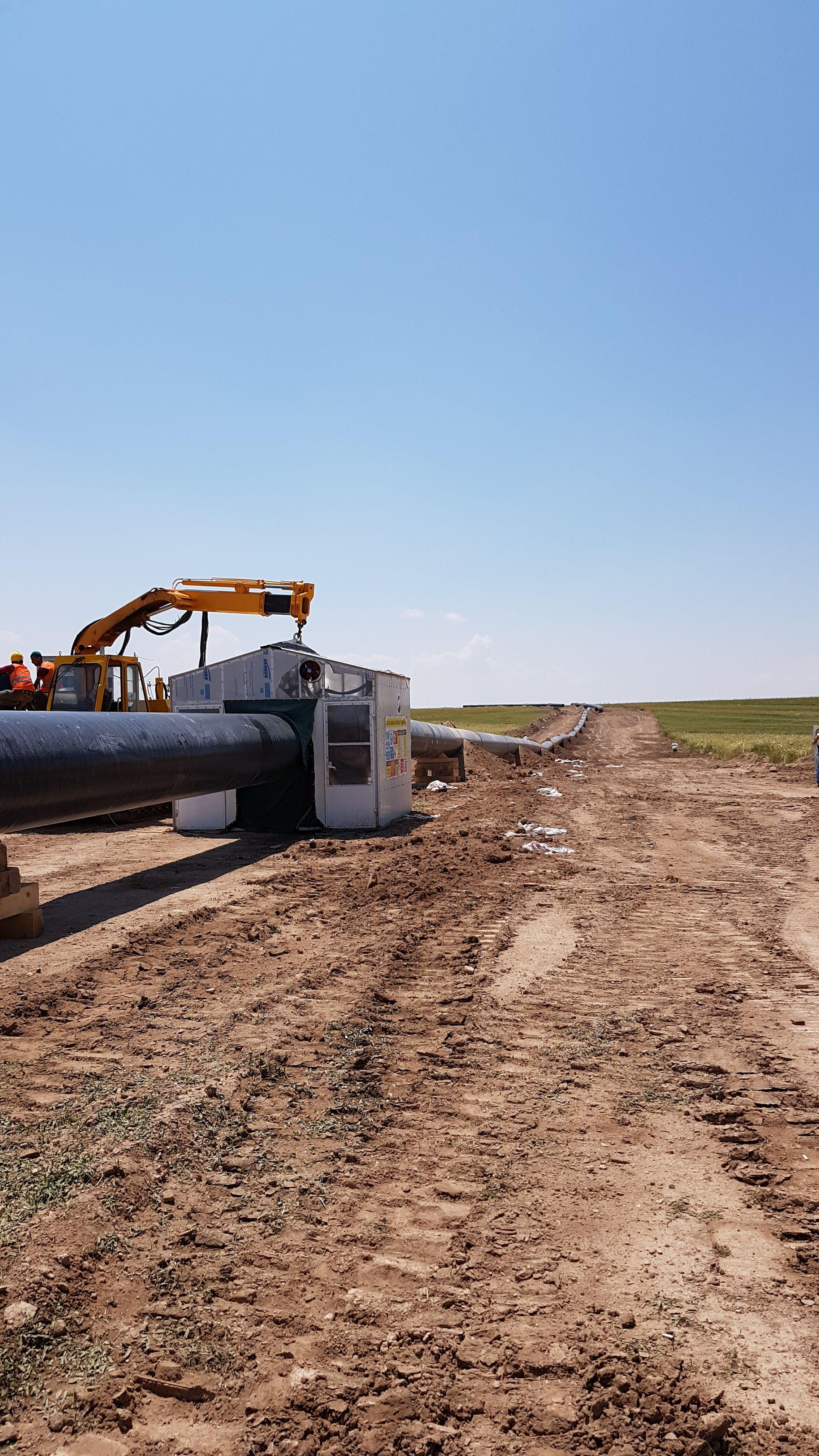 """Himmetdede-Kalaba Arası Koza Altın Madeni Sahası 40""""  Botaş Boru Hattı Deplasesi"""